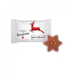 czekoladowa gwiazdka flow-pack