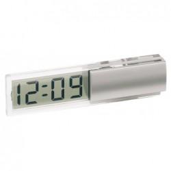 Zegar na biurko DIGI, srebrny