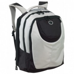 Plecak DELUXE, srebrny/czarny